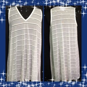 Swimsuits For All White Semi Sheer Coverup Large